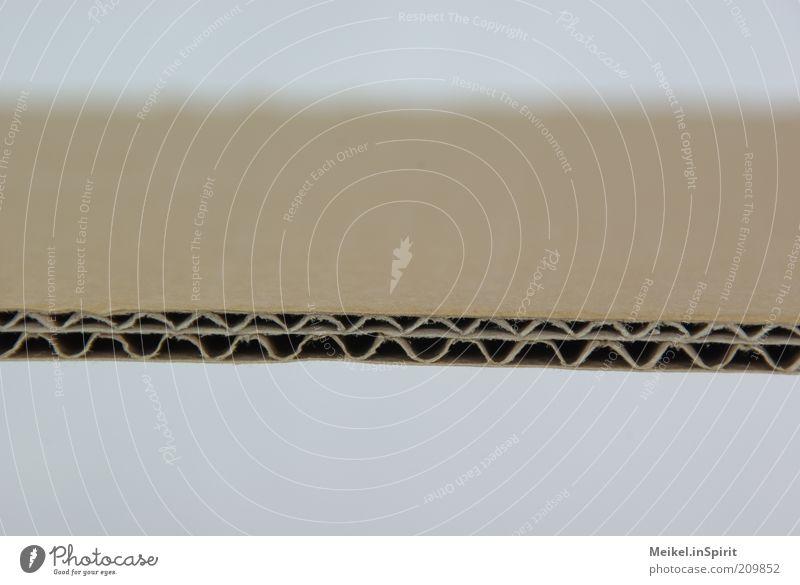 Das ist die perfekte Welle... Hintergrundbild Papier Ordnung gut stark dick Karton Qualität Makroaufnahme Linie Verpackung Präzision Durchschnitt Stabilität Wellenform Wellenlinie
