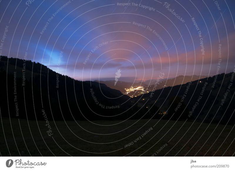 wolkenwandern, sterne auch. Freiheit Sommer Berge u. Gebirge Umwelt Natur Landschaft Urelemente Erde Himmel Wolken Nachthimmel Stern Horizont Hügel Alpen