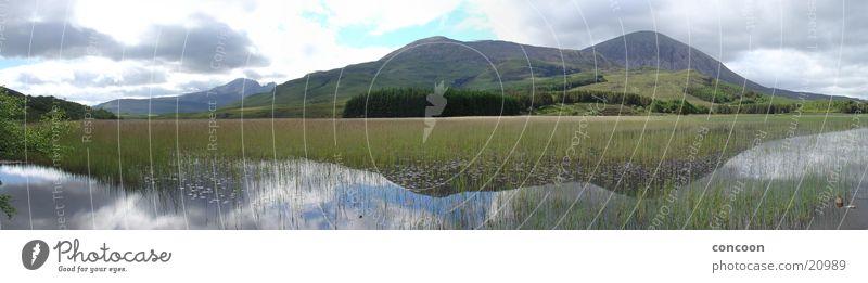 Isle of Skye, Schottland (Panorama) See Gras Reflexion & Spiegelung rein Großbritannien Europa Natur Berge u. Gebirge Landschaft Klarheit