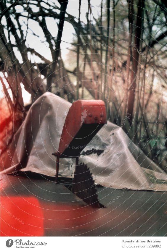 Blutspritzer? | LUsertreffen 04|10 Säge Kreissäge Tischkreissäge alt analog Abdeckung Sägeblatt Farbfoto Außenaufnahme Menschenleer Tag Schwache Tiefenschärfe