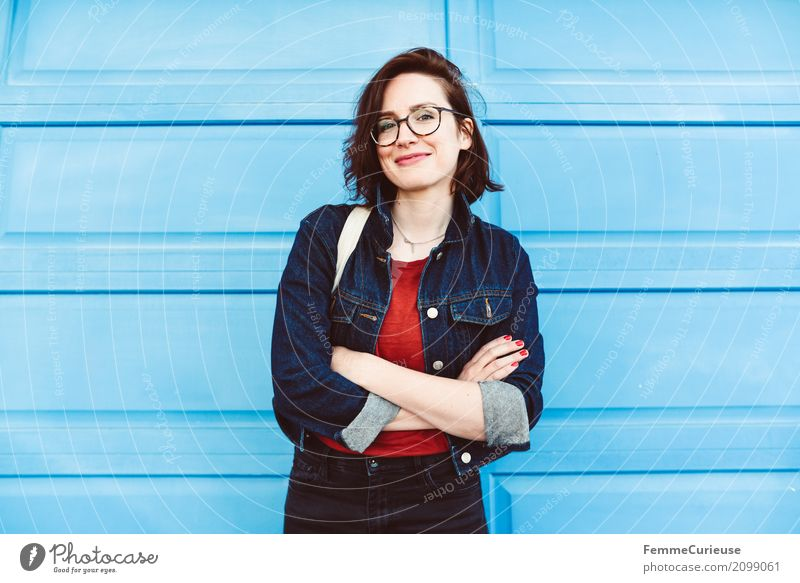 Roadtrip West Coast USA (110) *** 1400 pictures *** Lifestyle feminin Junge Frau Jugendliche Erwachsene Mensch 18-30 Jahre 30-45 Jahre schön blau Jeansjacke