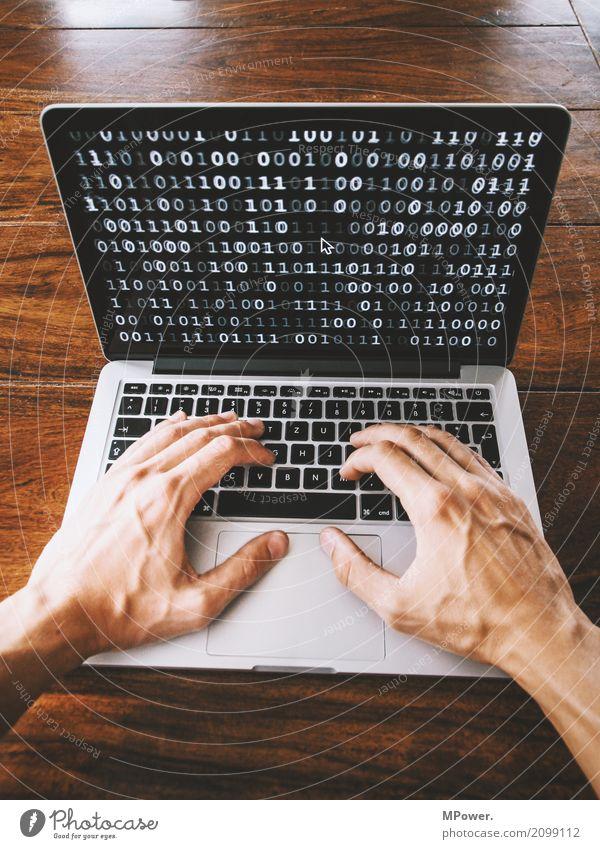 hack Mensch Hand Technik & Technologie Telekommunikation Zukunft Sicherheit Internet Informationstechnologie Tastatur Notebook online Bildschirm Fortschritt