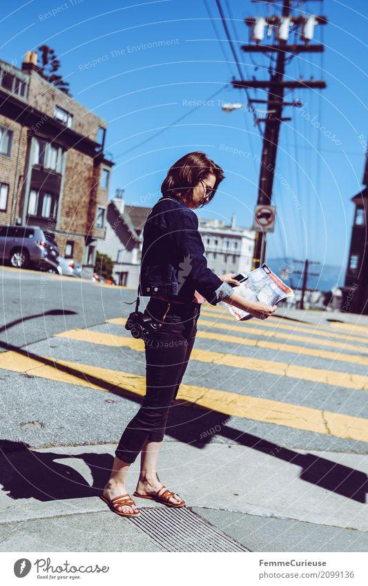 Roadtrip West Coast USA (277) feminin Junge Frau Jugendliche Erwachsene 1 Mensch 18-30 Jahre 30-45 Jahre Abenteuer San Francisco Tourist Reisefotografie