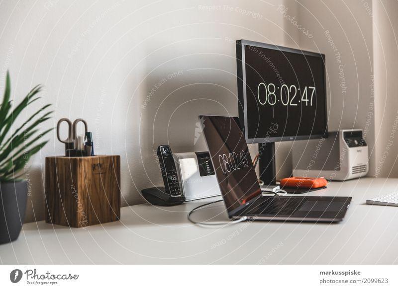 Arbeitsplatz Lifestyle Innenarchitektur Stil Design Arbeit & Erwerbstätigkeit Büro Kommunizieren Technik & Technologie Computer Beruf Internet zeichnen