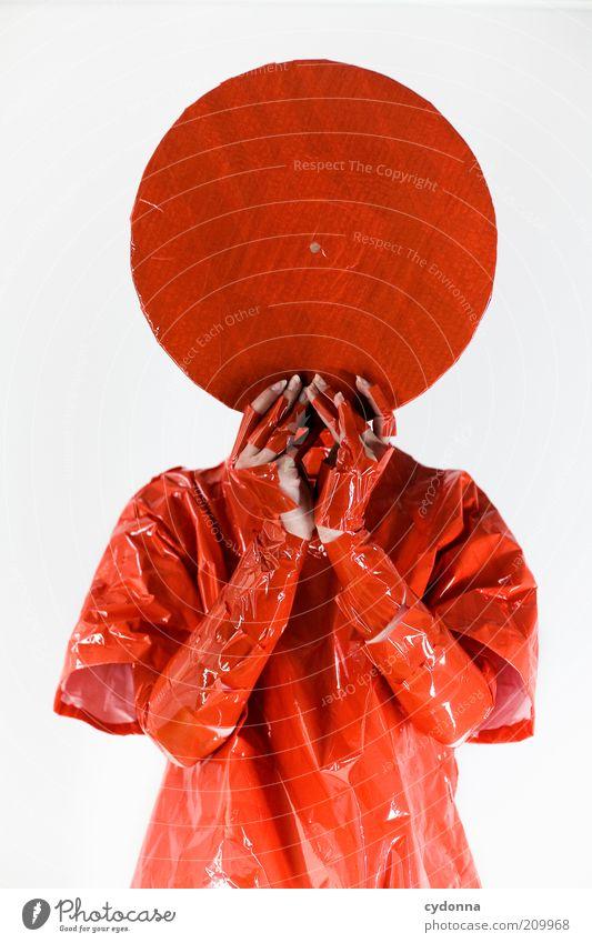 RADIUS Mensch rot Stil Musik Kopf orange Design verrückt Lifestyle Kreis Zukunft Wandel & Veränderung Kultur einzigartig geheimnisvoll außergewöhnlich