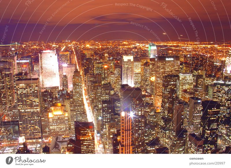City Lights of New York II Hochhaus USA Skyline New York City Nordamerika Empire State Building