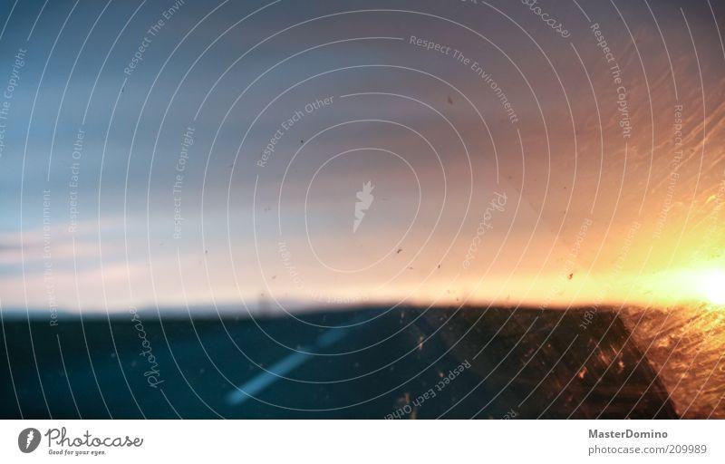7 am Ferien & Urlaub & Reisen Ausflug Ferne Freiheit Landschaft Himmel Horizont Sonne Sonnenaufgang Sonnenuntergang Sonnenlicht Schönes Wetter Straßenverkehr