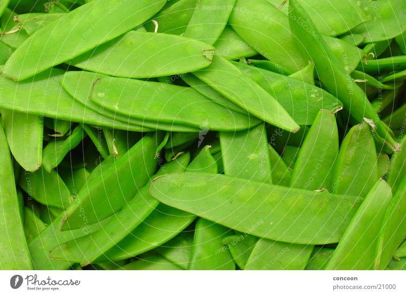 Süß & knackig Zuckererbsen grün roh frisch lecker Gesundheit Zuckererbsenschoten Gemüse