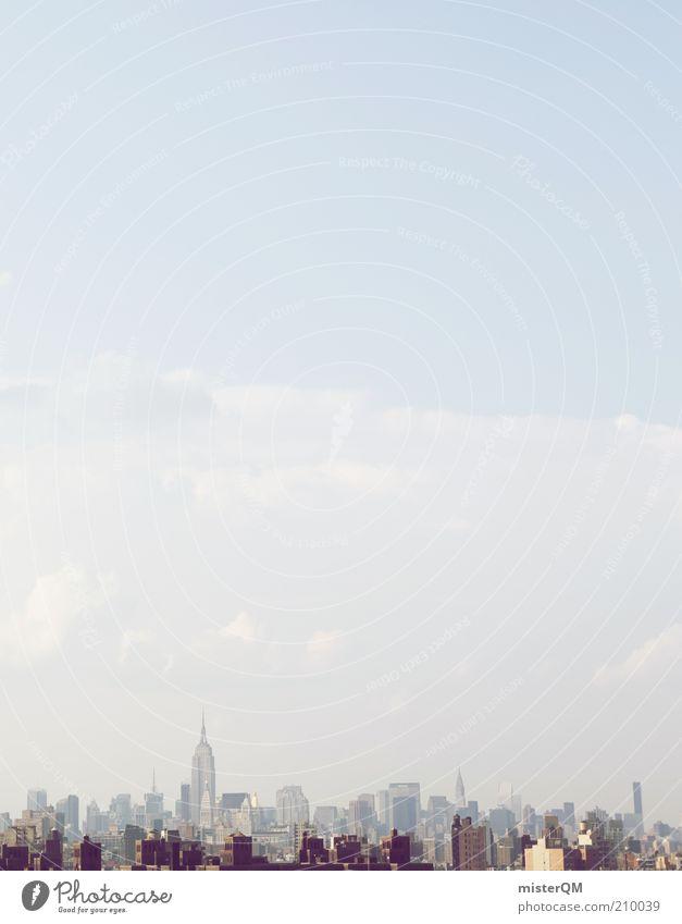 Imperium. Haus ästhetisch New York City USA Skyline Stadt bevölkert Wirtschaft Weltmacht Himmel hoch Chrysler Building herausragen Marktwirtschaft Ordnung