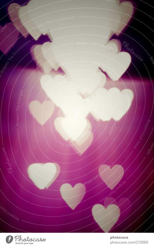 Liebe Kunst Herz Romantik Sehnsucht rot violett viele Herzenslust Liebesgruß Hintergrundbild Grafische Darstellung Symbole & Metaphern Farbfoto Experiment