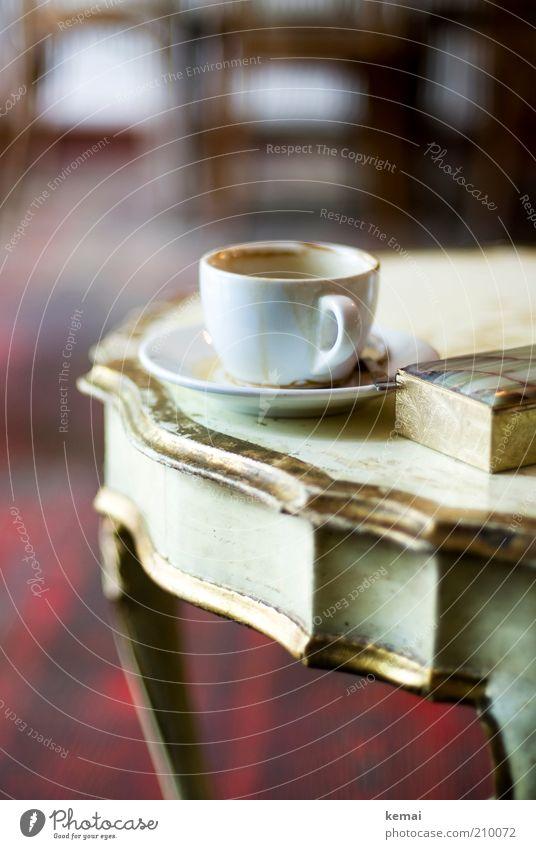 Gute Tasse Kaffee alt schön Erholung Stil Lebensmittel klein Zufriedenheit elegant gold Design Tisch Getränk Lifestyle Kaffee Reichtum Café