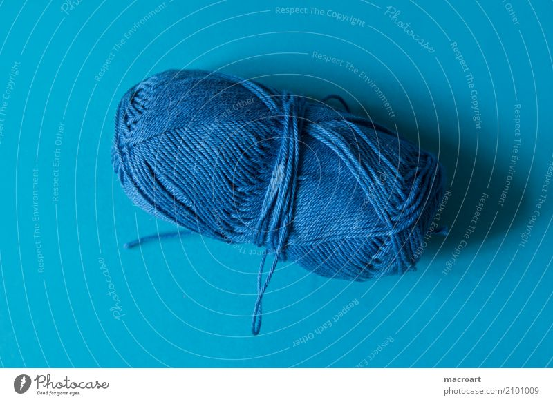 Blue blau Farbe Handwerk Wolle Handarbeit himmelblau stricken Untergrund Knäuel häkeln Wollknäuel Sticken