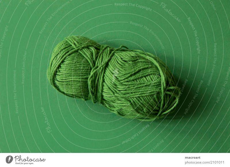 wollknäuel Farbe grün Schnur Handwerk Wolle Handarbeit stricken Untergrund Knäuel häkeln grasgrün Wollknäuel Sticken Wollstrang