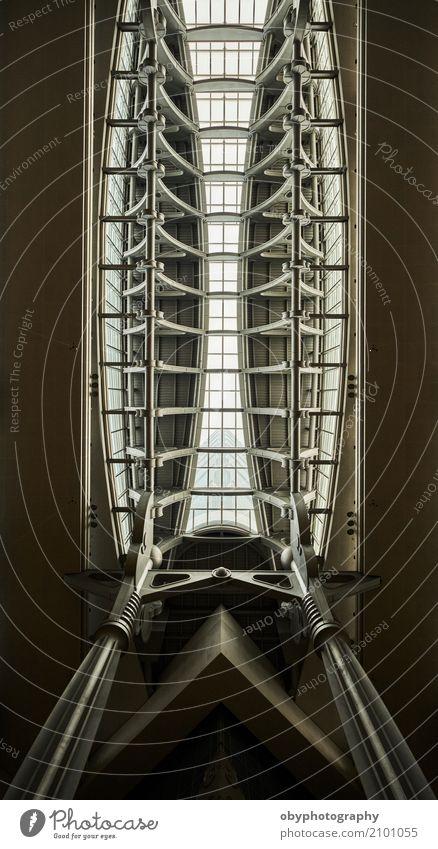 Skeleton Geometrien Einsamkeit Fenster Architektur Stein Beton Dach Höhenangst Wahrzeichen Denkmal Städtereise Stahl Top Säule vertikal Kristalle