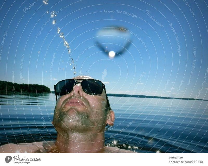Summer Madness Wellness Leben Zufriedenheit Erholung Sommer Sommerurlaub Meer maskulin Mann Erwachsene Kopf Gesicht 1 Mensch 30-45 Jahre Umwelt Wasser Küste