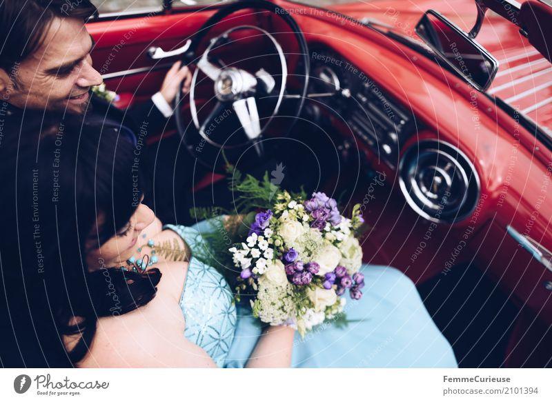Love is in the air (17) Mensch Frau Jugendliche Mann rot 18-30 Jahre Erwachsene Liebe feminin Familie & Verwandtschaft Glück maskulin elegant Blumenstrauß