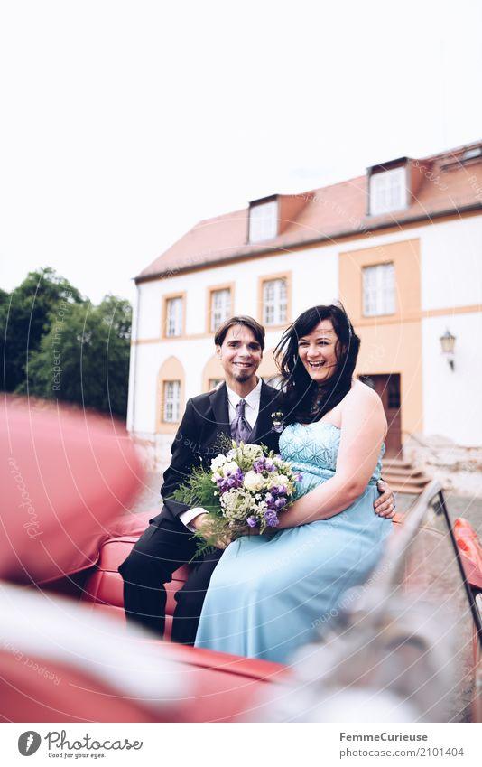 Love is in the air (52) maskulin feminin Frau Erwachsene Mann Mensch 18-30 Jahre Jugendliche 30-45 Jahre Glück Braut Brautkleid Blumenstrauß Ehe Ehepaar Ehefrau