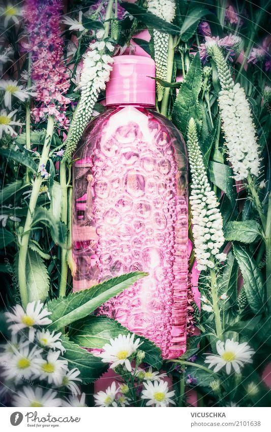 Naturkosmetik Pflanze schön grün Blume Blatt Lifestyle Blüte Gesundheit Stil rosa Design Medikament Körperpflege Kosmetik Flasche