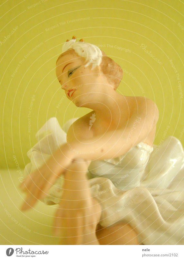 Ballerina02 Frau Gesicht Tanzen Körperhaltung Kitsch Dekoration & Verzierung zart Geschirr Puppe Balletttänzer Tänzer zerbrechlich Pastellton