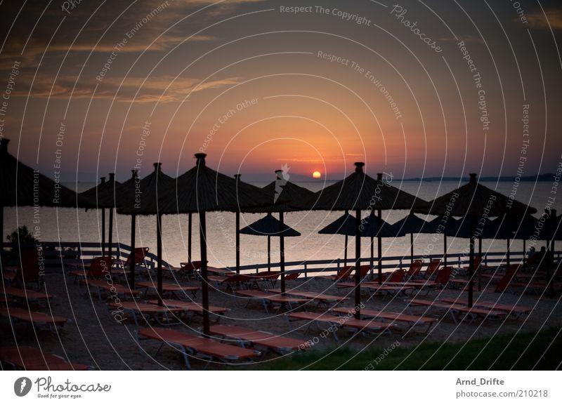 Ferien Himmel Sonne Meer Sommer Strand Ferien & Urlaub & Reisen ruhig Erholung Wiese Glück leer Ordnung mehrere Romantik Kitsch Sauberkeit