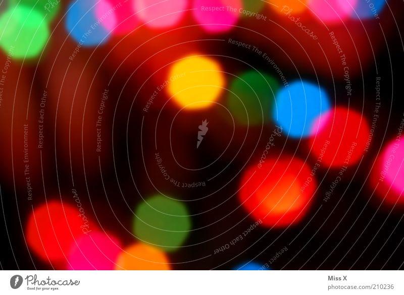 unscharfes Feuerwerk für Fotoline !!! leuchten Textfreiraum Feste & Feiern Nachtleben Lichterkette mehrfarbig unkenntlich Sechseck