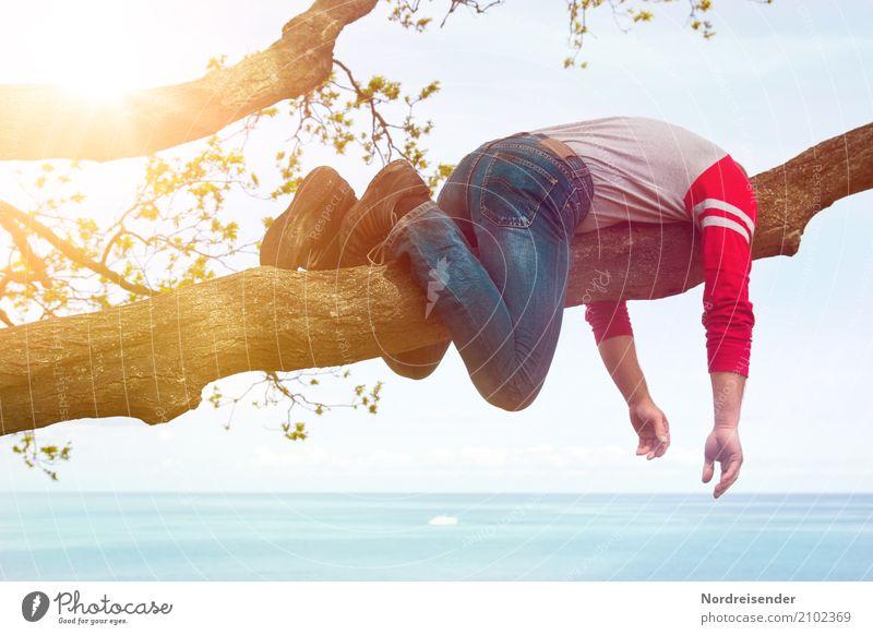 Endlich Wochenende .... Ferien & Urlaub & Reisen Sommer Sommerurlaub Sonne Strand Meer Mensch maskulin Mann Erwachsene Leben Urelemente Schönes Wetter Baum