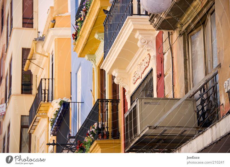 valencia morning 02 schön Stadt Sommer Ferien & Urlaub & Reisen Haus Fenster Gebäude Architektur Fassade Ausflug frisch Tourismus Balkon Bauwerk
