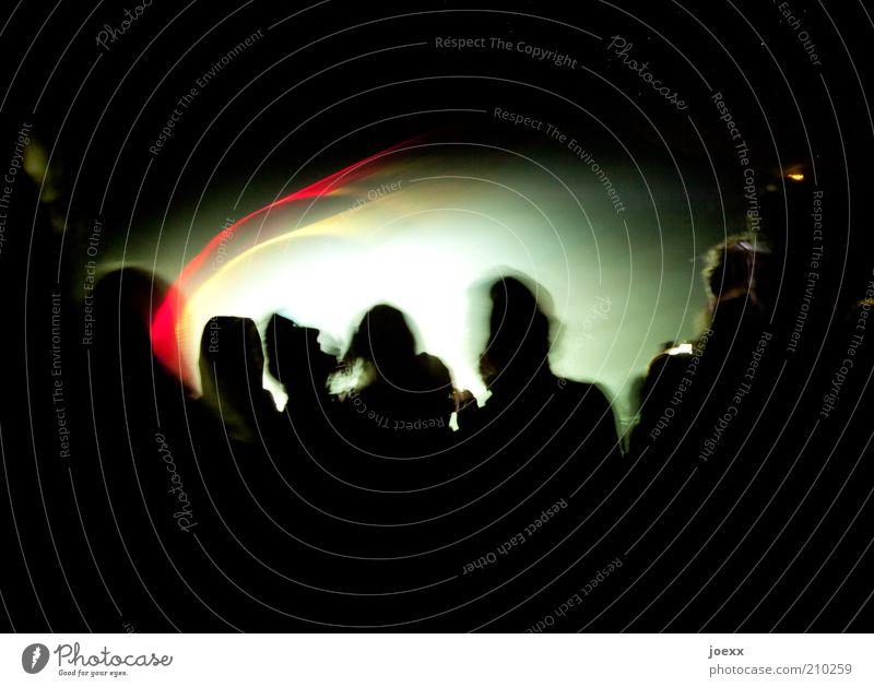 Schautanz Nachtleben Entertainment Party Feste & Feiern clubbing Tanzen Mensch Menschengruppe hell gelb grün rot schwarz Stimmung Freude Freizeit & Hobby