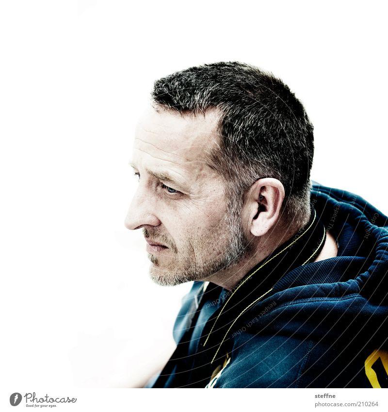 [H 10.1] AL MOE GONZALES Mensch Mann schön Erwachsene warten maskulin authentisch Coolness Konzentration Bart Pullover lässig Porträt attraktiv kurzhaarig 30-45 Jahre