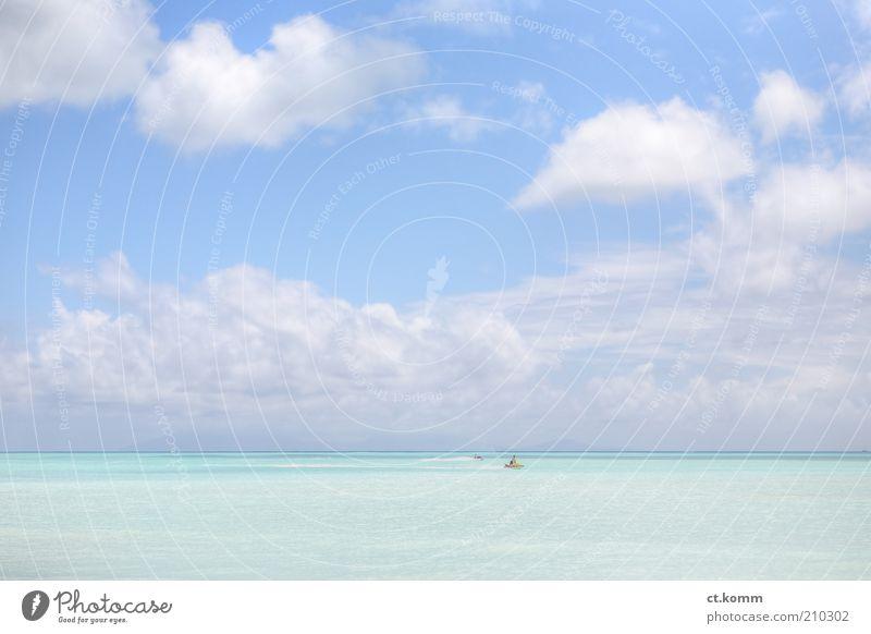 Jolly Beach Harbour Natur Meer Sommer Ferien & Urlaub & Reisen ruhig Wolken Ferne Leben Erholung träumen Zufriedenheit Küste Horizont Insel Tourismus Karibisches Meer