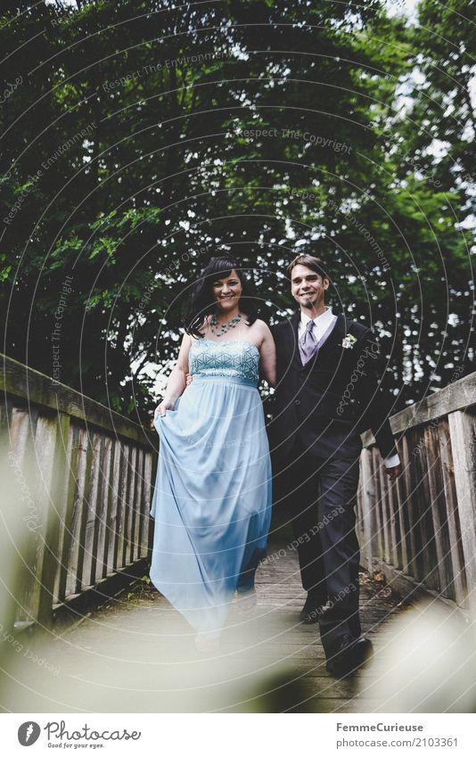 Love is in the air (20) maskulin feminin Frau Erwachsene Mann Mensch 18-30 Jahre Jugendliche 30-45 Jahre Bewegung Glück Ehe Ehepaar Hochzeit Hochzeitspaar Braut