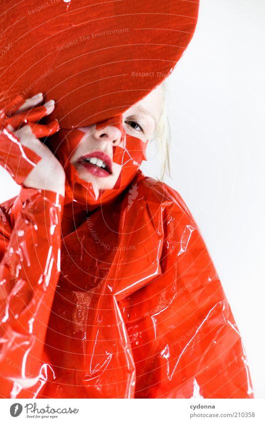 Asian Touch Mensch Jugendliche schön rot Gesicht Leben Stil orange Kunst Mode Erwachsene Design Lifestyle ästhetisch Frau