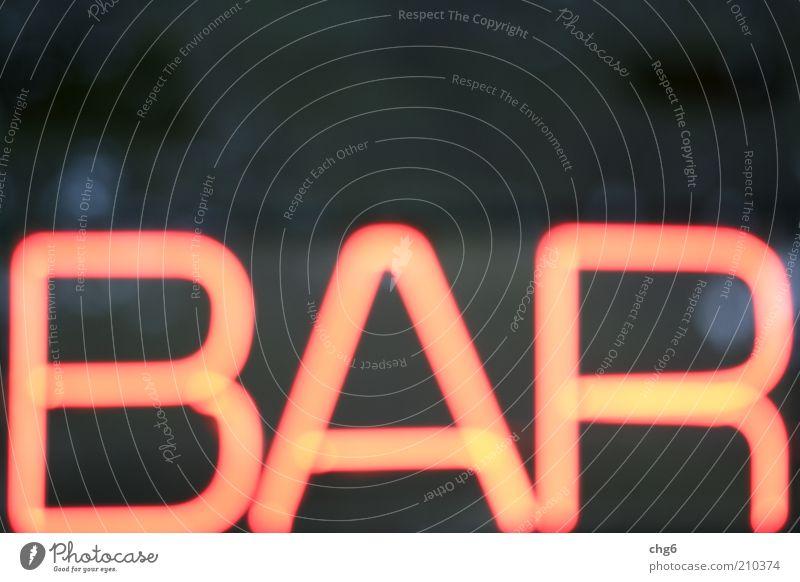 Bar rot Freude schwarz Feste & Feiern Schilder & Markierungen Schriftzeichen Freizeit & Hobby Neonlicht Vorfreude Nachtleben Leuchtreklame mehrfarbig