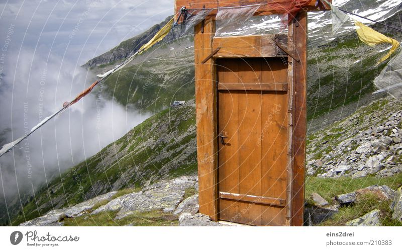 Heaven's Gate Natur ruhig Wolken Ferne Berge u. Gebirge Freiheit Holz träumen Wege & Pfade Landschaft Raum Kunst wandern Tür Nebel Abenteuer