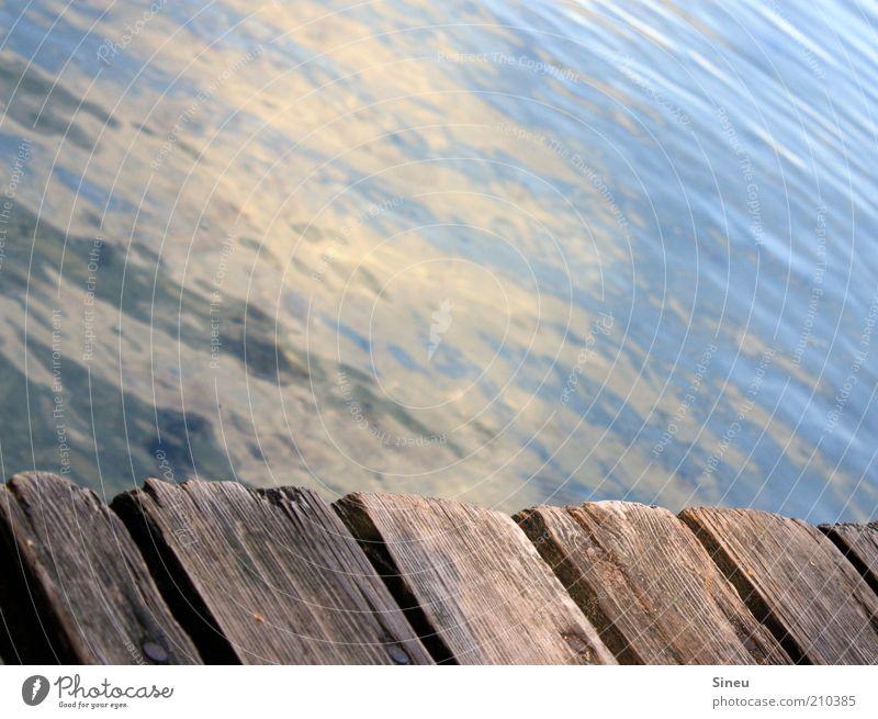 Steg Natur Wasser Sommer Ferien & Urlaub & Reisen ruhig Einsamkeit Erholung Freiheit Glück See Stimmung Tourismus Frieden rein Unendlichkeit