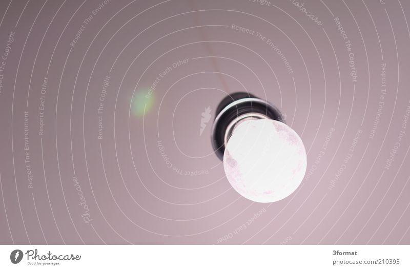 BIRNE Lampe hell Raum Beleuchtung Wohnung rosa Elektrizität leuchten hängen Glühbirne Decke sehr wenige reduzieren minimalistisch Energie Halterung