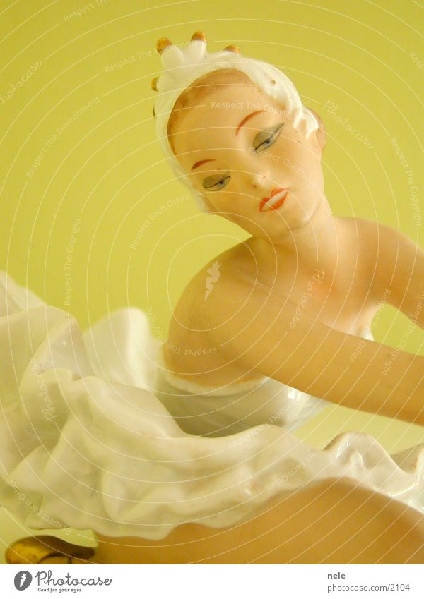 Ballerina01 Balletttänzer Frau Körperhaltung zart zerbrechlich Pastellton Lippen Geschirr Tänzer Puppe Kitsch Tanzen Dekoration & Verzierung Gesicht