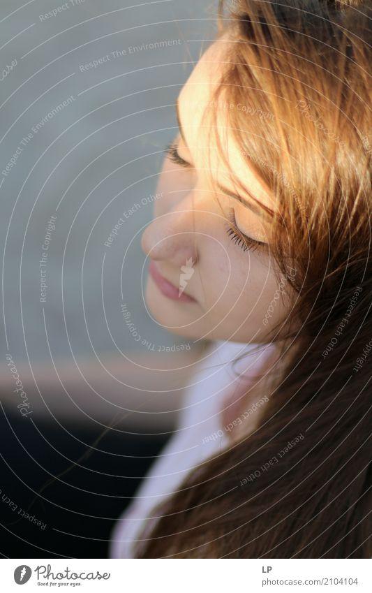 Kontrastprofil Lifestyle schön Haare & Frisuren Wellness Wohlgefühl Zufriedenheit Sinnesorgane Erholung ruhig Meditation Mensch feminin Junge Frau Jugendliche