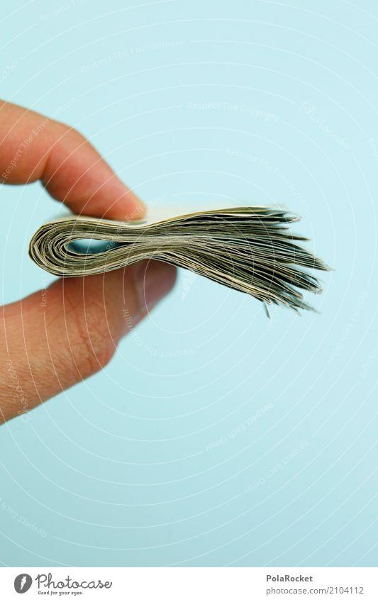 #AS# Rücklage Kunst ästhetisch Erfolg Geld viele Bank Geldinstitut Wirtschaft bezahlen 5 Geldscheine sparen Euro Kapitalwirtschaft Trostpreis Konto