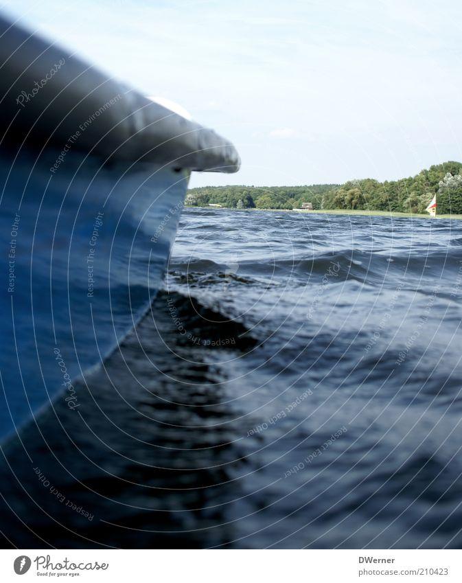 eine Bootsfahrt... Himmel Natur blau Wasser Ferien & Urlaub & Reisen Meer Sommer Erholung Umwelt Landschaft See Wasserfahrzeug Wellen Zufriedenheit Schwimmen & Baden Freizeit & Hobby