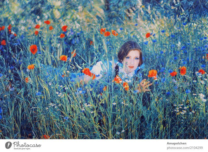 ::18-08:: Natur Ferien & Urlaub & Reisen Jugendliche Sommer Landschaft Blume 18-30 Jahre Erwachsene Leben Umwelt Frühling Wiese feminin Glück Garten Tourismus