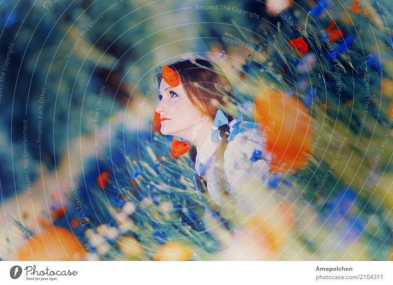 ::17-20:: Natur Ferien & Urlaub & Reisen Jugendliche Junge Frau Sommer Gesunde Ernährung Sonne Blume Erholung 18-30 Jahre Erwachsene Leben Umwelt Wiese