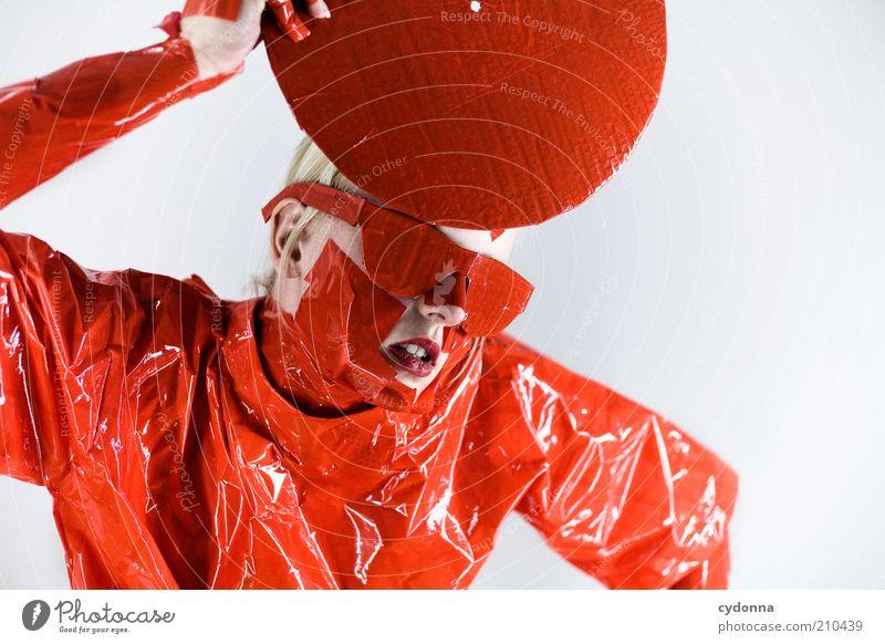 Weissde Bescheid Mensch Jugendliche rot Leben Stil Musik Design verrückt Lifestyle Coolness Zukunft einzigartig außergewöhnlich festhalten Kreativität