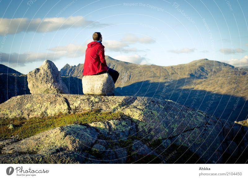 Ferngucker harmonisch Wohlgefühl Zufriedenheit Sinnesorgane Erholung ruhig Meditation Ferien & Urlaub & Reisen Ausflug Abenteuer Ferne Freiheit Berge u. Gebirge