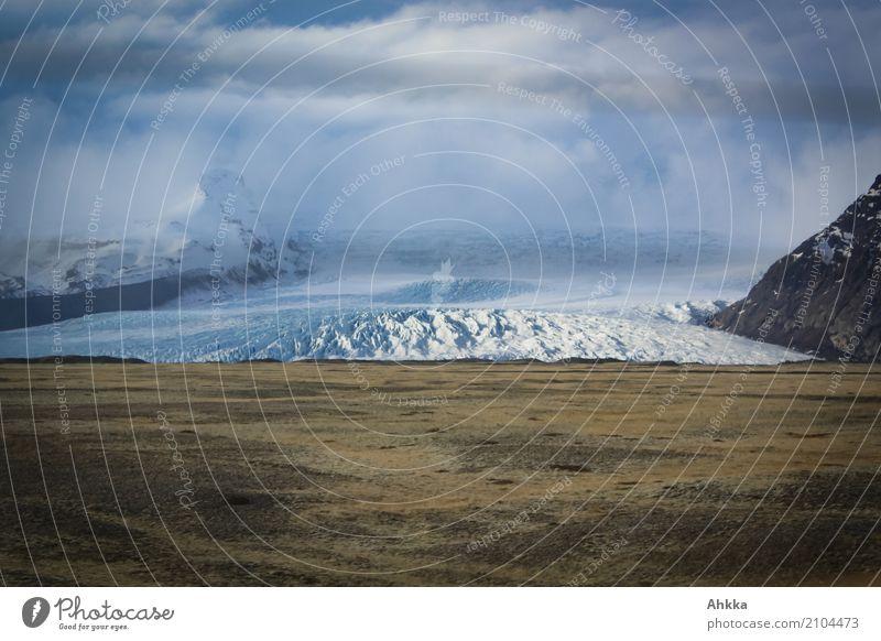 Gletscherwelle Abenteuer Expedition Landschaft Wolken Klimawandel Eis Frost Wellen Island Zukunftsangst gefährlich Angst bedrohlich Geschwindigkeit Kontrolle