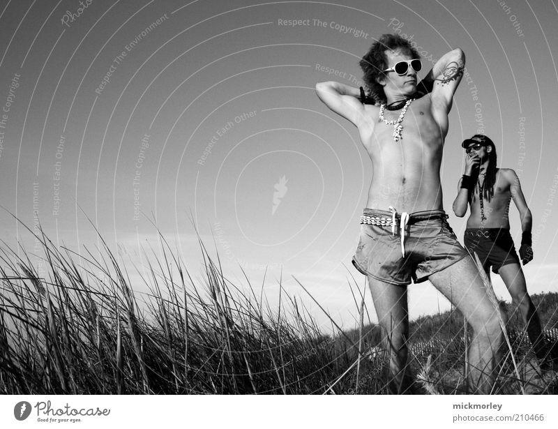 Sunny California Boys Mensch Natur Jugendliche schön Sommer Ferien & Urlaub & Reisen Leben Stil Freiheit Freundschaft Zufriedenheit Körper Erwachsene maskulin