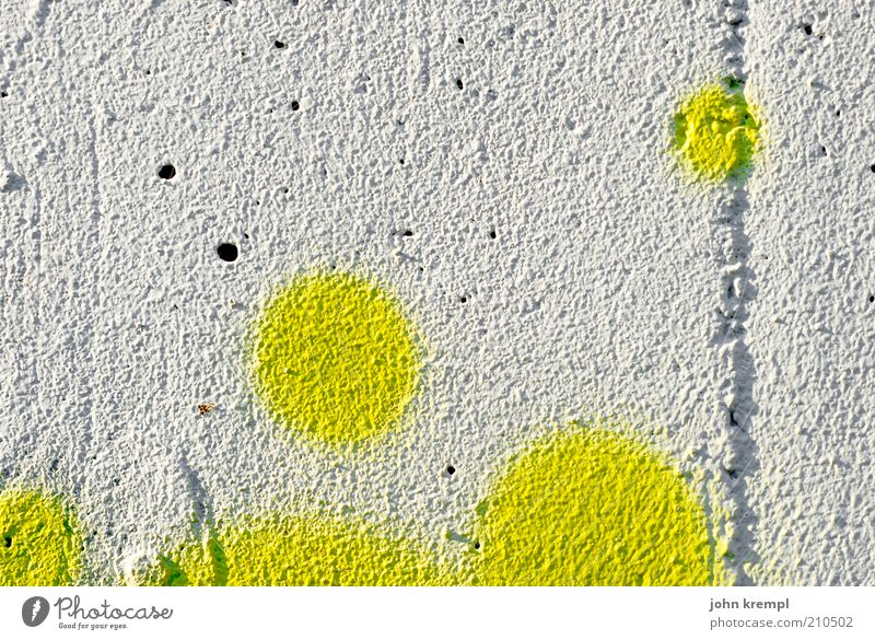 scrambled eggs weiß Freude Haus gelb Farbe Leben Wand Glück Farbstoff Mauer Graffiti Beton Fassade Kreis rund Freundlichkeit