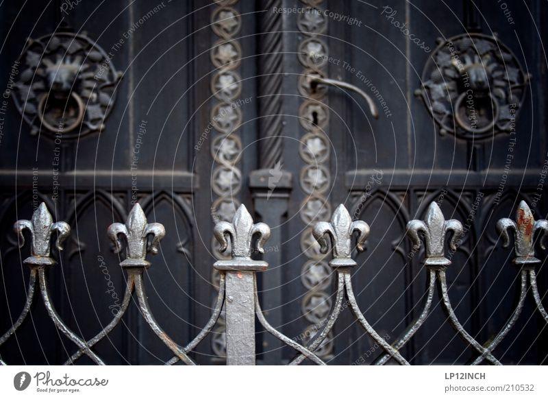 The Doors III alt Holz Gebäude Tür geschlossen Dekoration & Verzierung Sicherheit Schutz Geländer historisch Zaun Eingang Griff Bildausschnitt Barriere Ornament