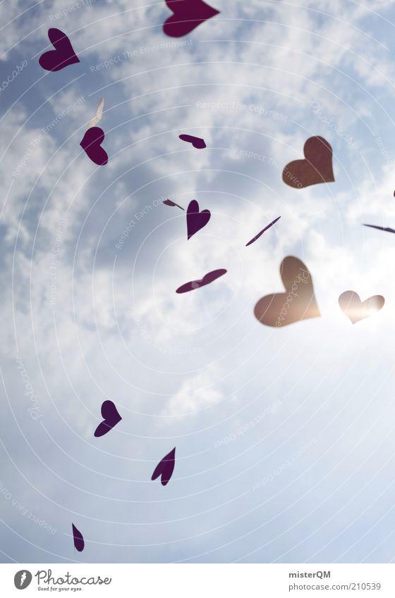600 with love. Himmel Sommer rot Liebe Gefühle Freiheit träumen Herz frei ästhetisch viele Kreativität Idee Lebensfreude abstrakt Liebeskummer