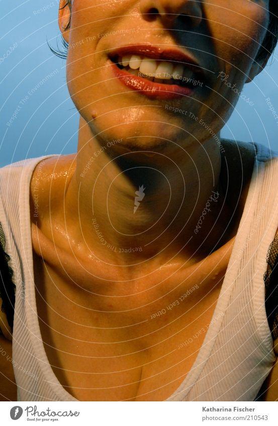 #210543 Frau Mensch weiß schön rot Gesicht feminin Erwachsene braun Mund Haut nass glänzend Nase ästhetisch außergewöhnlich